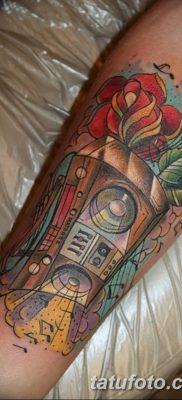 фото татуировка динамик и магнитофон от 11.10.2017 №043 – tattoo speaker – tatufoto.com