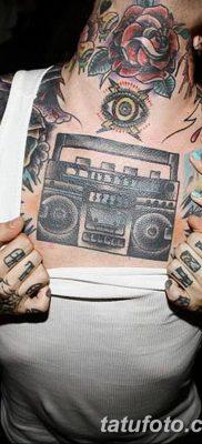 фото татуировка динамик и магнитофон от 11.10.2017 №045 – tattoo speaker – tatufoto.com