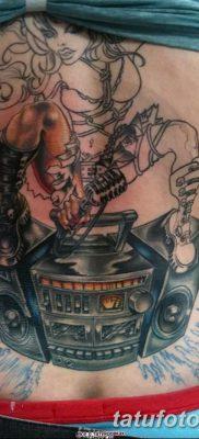 фото татуировка динамик и магнитофон от 11.10.2017 №050 – tattoo speaker – tatufoto.com