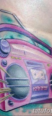 фото татуировка динамик и магнитофон от 11.10.2017 №051 – tattoo speaker – tatufoto.com