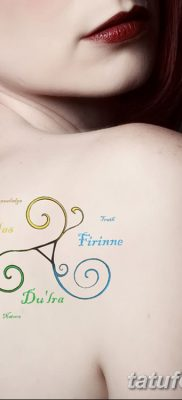 фото татуировка триксель от 23.10.2017 №013 – triksel tattoo – tatufoto.com