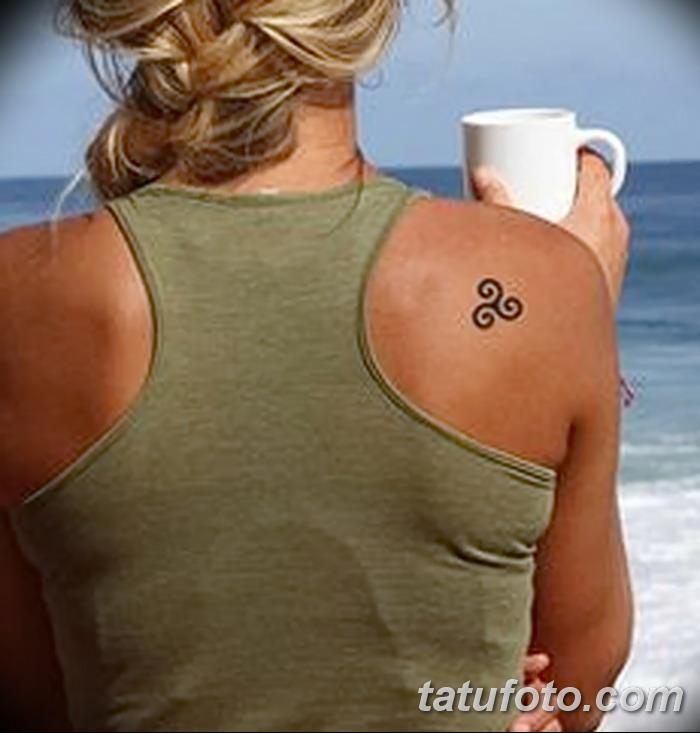 фото татуировка триксель от 23.10.2017 №014 - triksel tattoo - tatufoto.com
