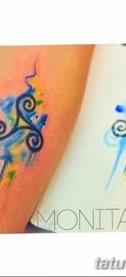 фото татуировка триксель от 23.10.2017 №017 – triksel tattoo – tatufoto.com