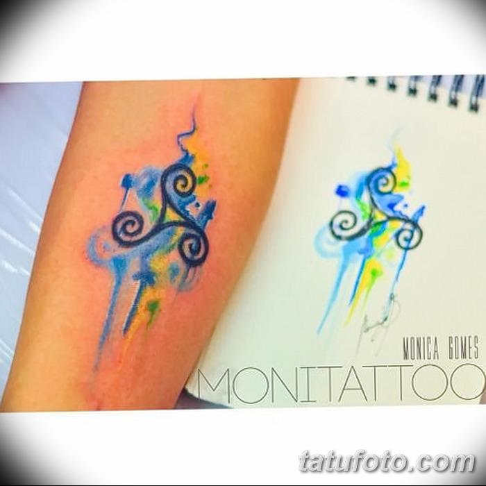 фото татуировка триксель от 23.10.2017 №017 - triksel tattoo - tatufoto.com