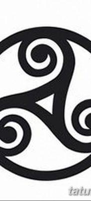 фото татуировка триксель от 23.10.2017 №034 – triksel tattoo – tatufoto.com