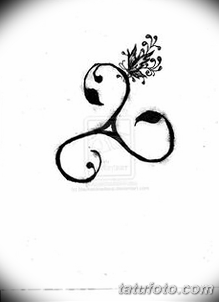 фото татуировка триксель от 23.10.2017 №037 - triksel tattoo - tatufoto.com