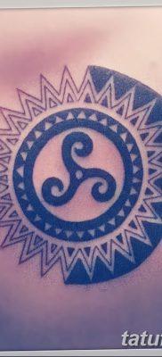 фото татуировка триксель от 23.10.2017 №043 – triksel tattoo – tatufoto.com