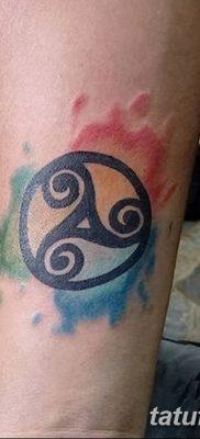 фото татуировка триксель от 23.10.2017 №050 – triksel tattoo – tatufoto.com