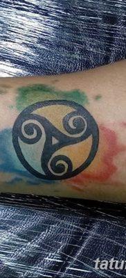 фото татуировка триксель от 23.10.2017 №051 – triksel tattoo – tatufoto.com
