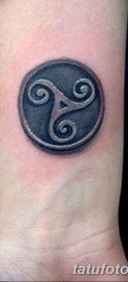 фото татуировка триксель от 23.10.2017 №067 – triksel tattoo – tatufoto.com