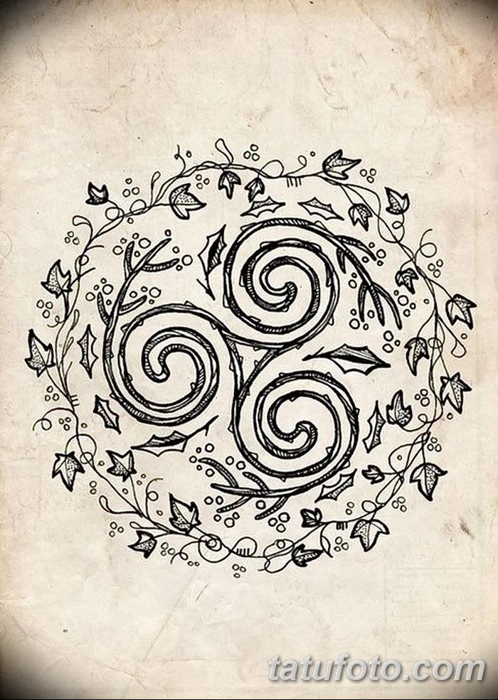 фото татуировка триксель от 23.10.2017 №085 - triksel tattoo - tatufoto.com