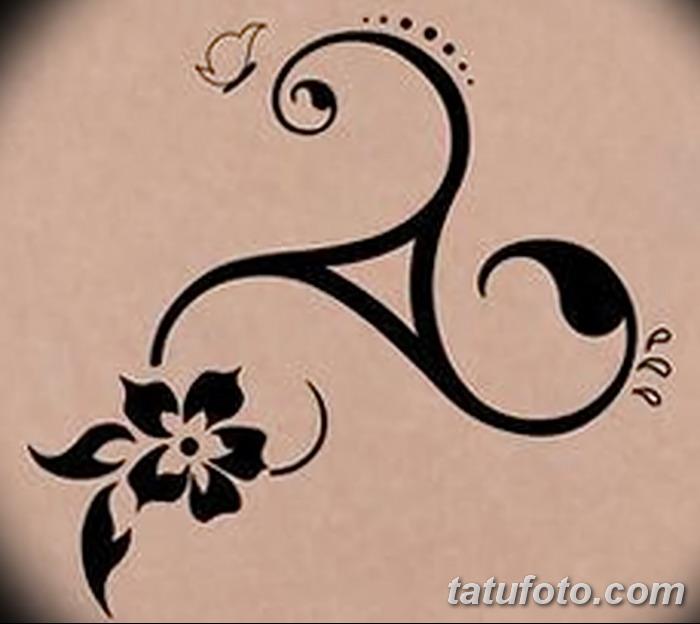 фото татуировка триксель от 23.10.2017 №096 - triksel tattoo - tatufoto.com