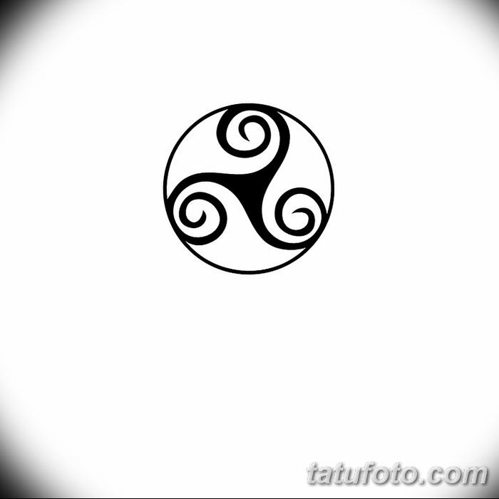 фото татуировка триксель от 23.10.2017 №098 - triksel tattoo - tatufoto.com