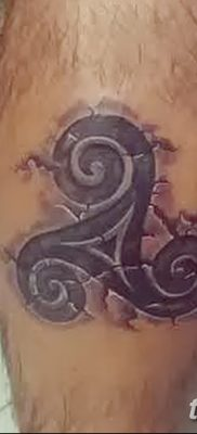 фото татуировка триксель от 23.10.2017 №100 – triksel tattoo – tatufoto.com