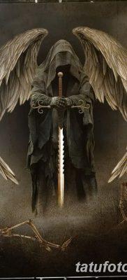 фото тату ангел смерти от 28.10.2017 №002 – angel death tattoo – tatufoto.com