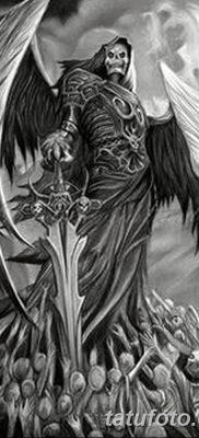 фото тату ангел смерти от 28.10.2017 №004 – angel death tattoo – tatufoto.com
