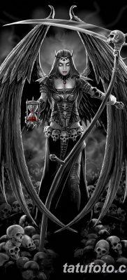 фото тату ангел смерти от 28.10.2017 №024 – angel death tattoo – tatufoto.com