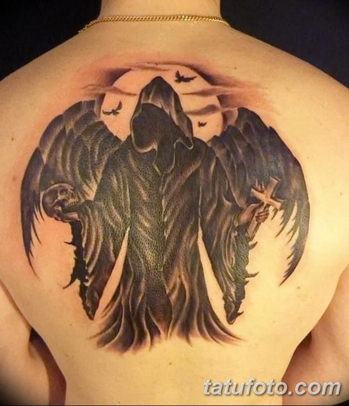 кстати падший ангел фото тату на спине малышка