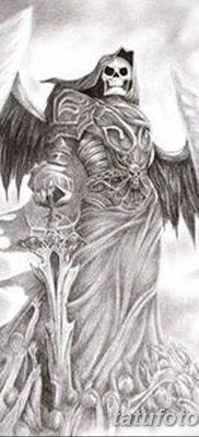 фото тату ангел смерти от 28.10.2017 №052 – angel death tattoo – tatufoto.com