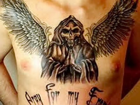 фото тату ангел смерти от 28.10.2017 №062 - angel death tattoo - tatufoto.com
