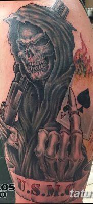 фото тату ангел смерти от 28.10.2017 №064 – angel death tattoo – tatufoto.com