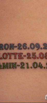 фото тату даты рождения от 11.10.2017 №002 – Date of birth tattoo – tatufoto.com
