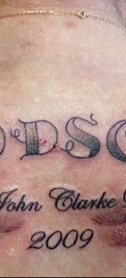 фото тату даты рождения от 11.10.2017 №004 – Date of birth tattoo – tatufoto.com