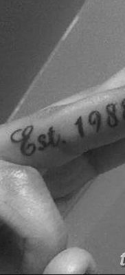 фото тату даты рождения от 11.10.2017 №017 – Date of birth tattoo – tatufoto.com