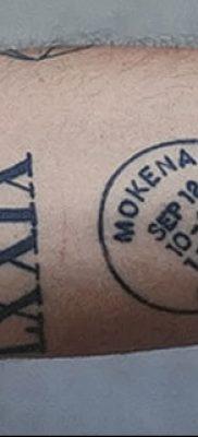 фото тату даты рождения от 11.10.2017 №019 – Date of birth tattoo – tatufoto.com