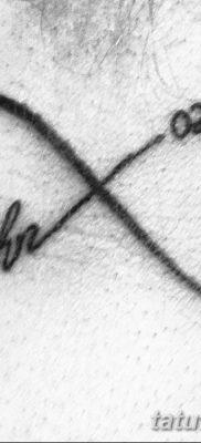 фото тату даты рождения от 11.10.2017 №039 – Date of birth tattoo – tatufoto.com