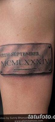 фото тату даты рождения от 11.10.2017 №113 – Date of birth tattoo – tatufoto.com