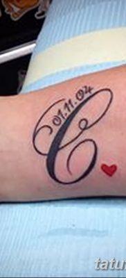 фото тату даты рождения от 11.10.2017 №114 – Date of birth tattoo – tatufoto.com