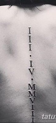фото тату даты рождения от 11.10.2017 №116 – Date of birth tattoo – tatufoto.com