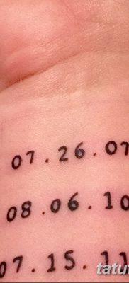 фото тату даты рождения от 11.10.2017 №119 – Date of birth tattoo – tatufoto.com