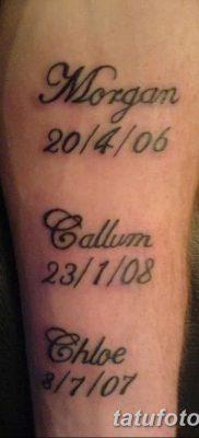 фото тату даты рождения от 11.10.2017 №132 – Date of birth tattoo – tatufoto.com