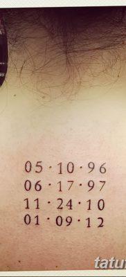 фото тату даты рождения от 11.10.2017 №138 – Date of birth tattoo – tatufoto.com