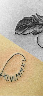 фото тату даты рождения от 11.10.2017 №141 – Date of birth tattoo – tatufoto.com