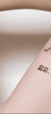 фото тату даты рождения от 11.10.2017 №143 – Date of birth tattoo – tatufoto.com