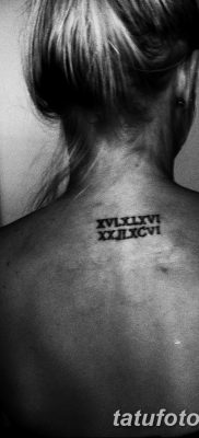 фото тату даты рождения от 11.10.2017 №144 – Date of birth tattoo – tatufoto.com
