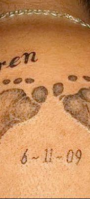 фото тату даты рождения от 11.10.2017 №155 – Date of birth tattoo – tatufoto.com