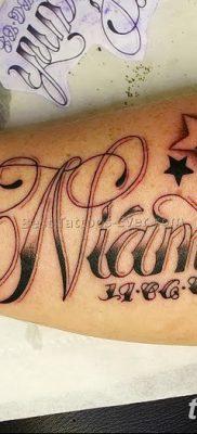 фото тату даты рождения от 11.10.2017 №155 – Date of birth tattoo – tatufoto.com 2623434