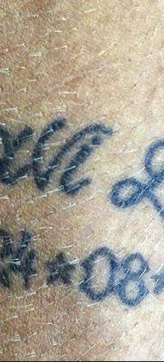 фото тату даты рождения от 11.10.2017 №158 – Date of birth tattoo – tatufoto.com