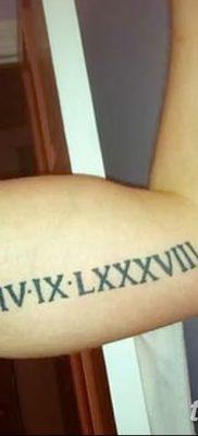 фото тату даты рождения от 11.10.2017 №159 – Date of birth tattoo – tatufoto.com