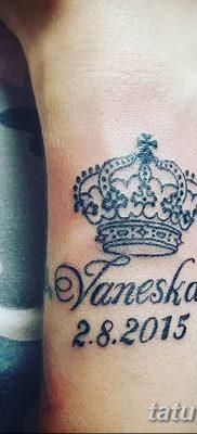 фото тату даты рождения от 11.10.2017 №160 – Date of birth tattoo – tatufoto.com