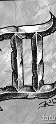 фото тату знак зодиака Близнецы от 21.10.2017 №011 – tattoo sign of the zodiac Gemini