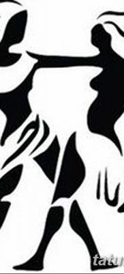 фото тату знак зодиака Близнецы от 21.10.2017 №026 – tattoo sign of the zodiac Gemini