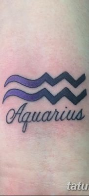 фото тату знак зодиака Водолей от 21.10.2017 №006 – tattoo sign of the zodiac Aquarius