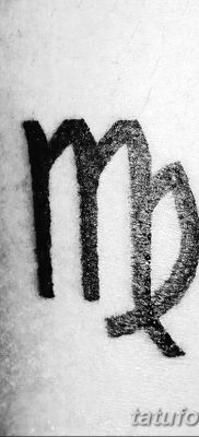 фото тату знак зодиака Дева от 21.10.2017 №003 – tattoo sign of the zodiac Virgo