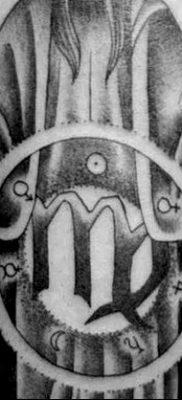 фото тату знак зодиака Дева от 21.10.2017 №019 – tattoo sign of the zodiac Virgo