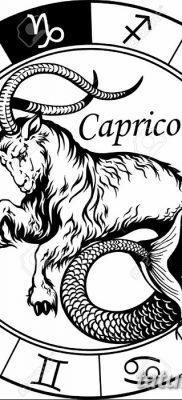 фото тату знак зодиака Козерог от 21.10.2017 №007 – tattoo sign of the zodiac Capricorn